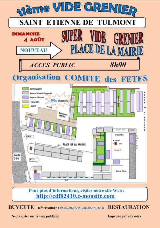 Vide grenier 2019 format 14x21 plan de la place